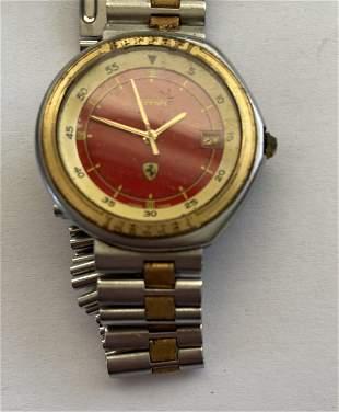 A Ferrari Watch by Cartier for Ferrari. Quartz