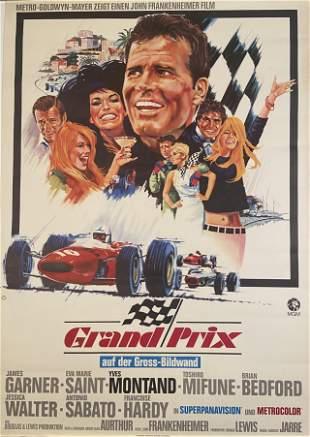 Grand Prix, 1967 Rare German Movie Poster