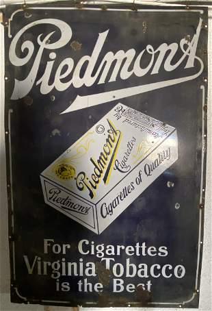 Piedmont, Cigarettes Virginia Tobacco Porcelain Sign
