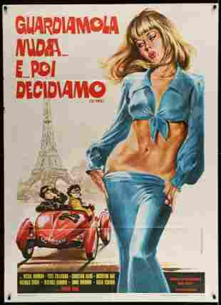 FLAT OUT, Italian Movie Poster Eiffel Tower, 1976