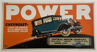 POWER, Chevrolet Bus or Street Car Advertising Poster.