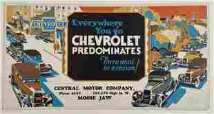 Chevrolet Vintage Bus or Street Car Poster