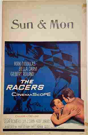 The Racers, An original Movie Window Card Poster, 1955