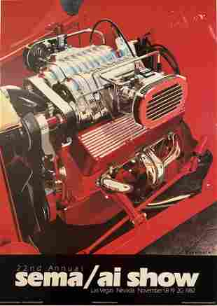 Harold Cleworth Sema, Hot Rod Chevy 350 Poster