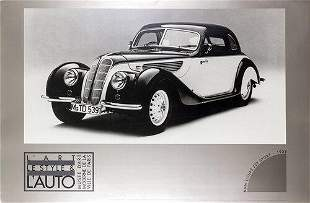 38 BMW Coupe 327 Sport--Continuous Tone No Dots Poster