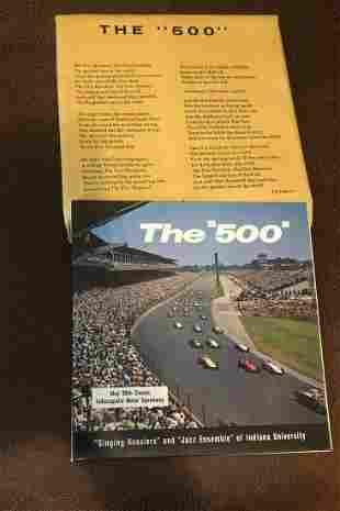 1962 Indy 500 Souvenir LP Record