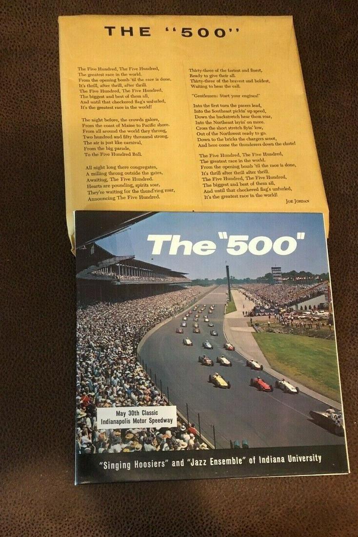 Indy 500 1962 Souvenir LP Record