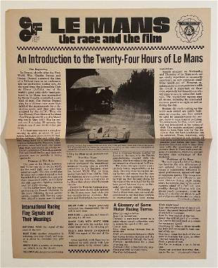"""""""Le Mans, The Race and the film"""" A newspaper promotion,"""
