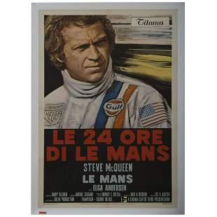 Steve McQueen Le Mans original folded Italian one sheet