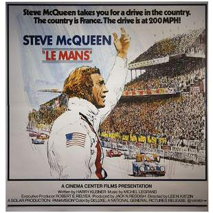 Steve McQueen orignal six sheet filed movie poster