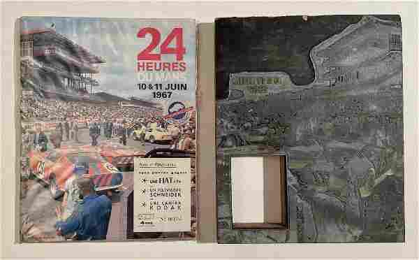1967 Le Mans program unique printing block plus program