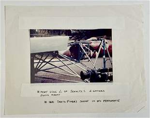 Steve McQueen Le Mans camera mount storyboard photo and