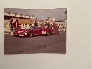 Steve McQueen Le Mans Ferrari production shot from