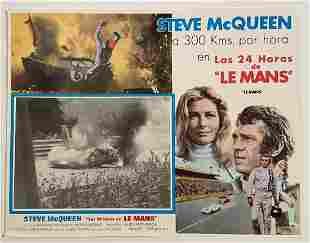 Steven McQueen, Le Mans, Oversize Mexican Lobby Card,