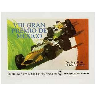 Gran Premio de 1969 Mexico Formula One Vintage original