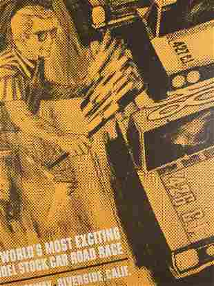 Vintage 4th Annual Motor Trend Riverside 500 Poster