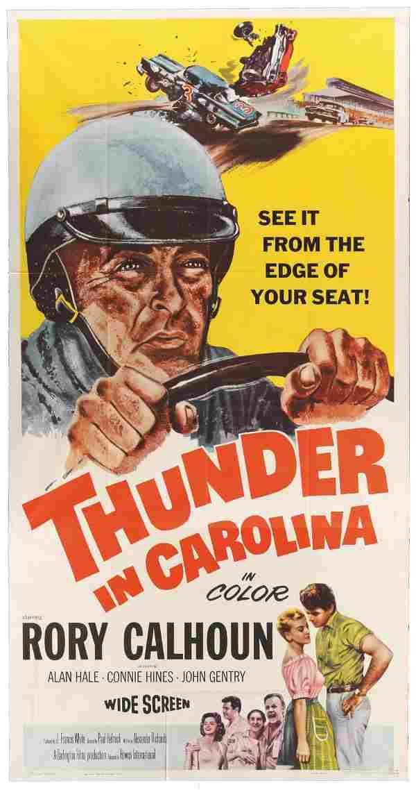 THUNDER IN CAROLINA, 1960 Rory Calhoun, great artwork