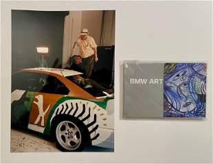 David Hockney BMW Art Car Signed Photo and booklet