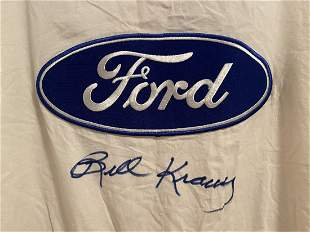 Shelby Ford Driver Overalls signed Bill Krause