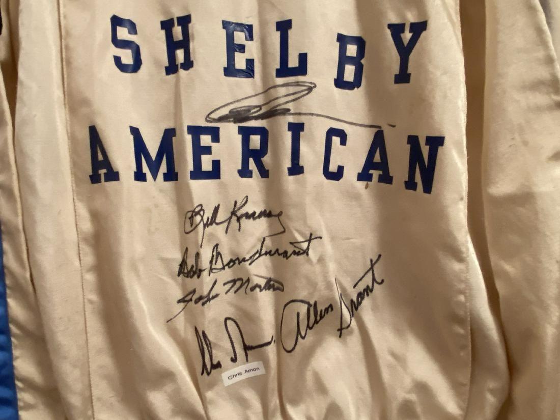 Shelby Drivers Suit, Chris Amon Pete Brock Signed