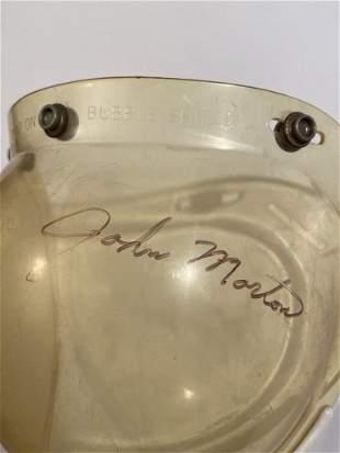 Vintage snap on race helmet bubble shield signed Shelby