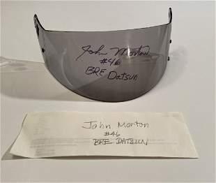 John Morton BRE Datsun Signed Visor
