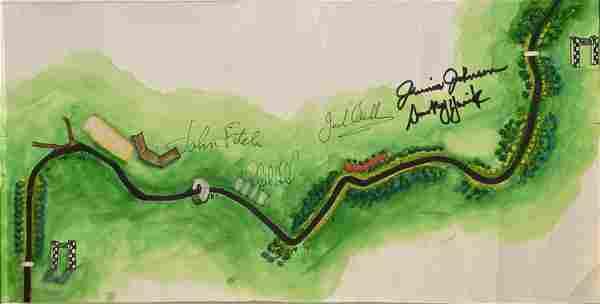Smokey Yunick Original Driver Signed Watercolor of the