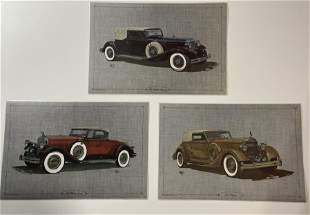 Chrysler, Packard and Pierce Arrow Placemat's, 1980's