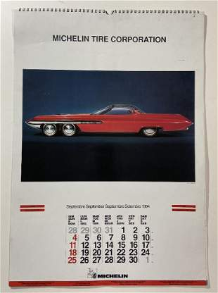 Michelin Tire Calendar featuring car styling concept