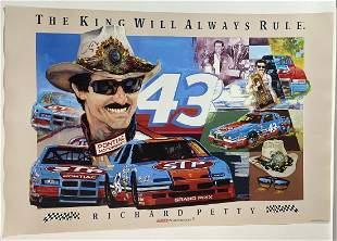 The King Richard Petty Nascar Pontiac poster