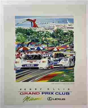 Miami Grand Prix Randy Owens Jaguar 1992 Poster