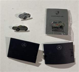 Factory Porsche and Mercedes Benz pins including
