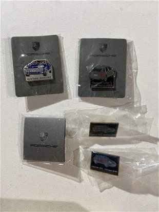 Factory Porsche pins including Detroit Auto Show 2007,