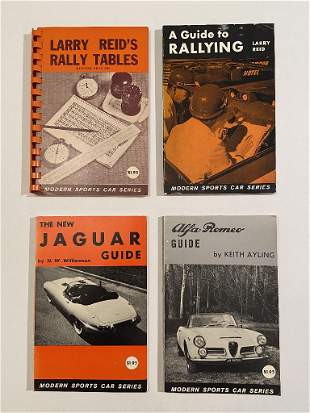 Jaguar and Alfa Romeo Guides, and two Rally Books,