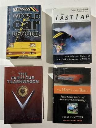 Four car books, Nascar racing, The Hemi in the Barn,