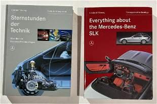 """Mercedes Benz hardbound book, """" one German text, one"""