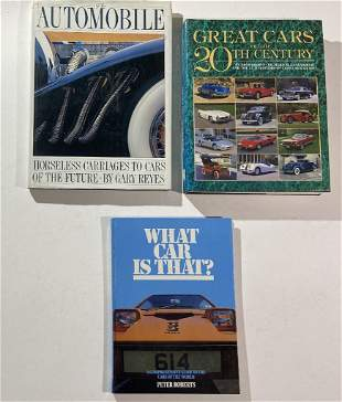 """Three car books, including 'What car is that?"""" by"""