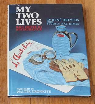 My Two Lives book Rene Dreyfus Le Mans + Grand Prix Rac