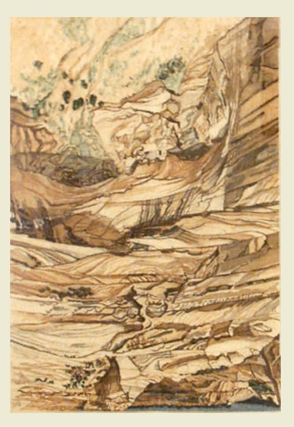 20: Phillip Pearlstein Mummy Cave Ruins at Canyon de Ch