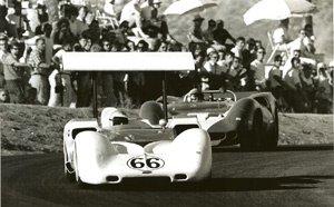 50: Can Am at Riverside Jim Hall, John Surtees, Lola