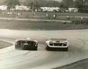 60: Albert Bochroch Untitled  two Can Am cars, Lola