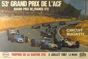 117: 53 Grand Prix de L'ACF-LeMans  F1 Race Poster