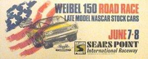 118: Weibel 150 Nascar Road Race-Sears Point   Poster