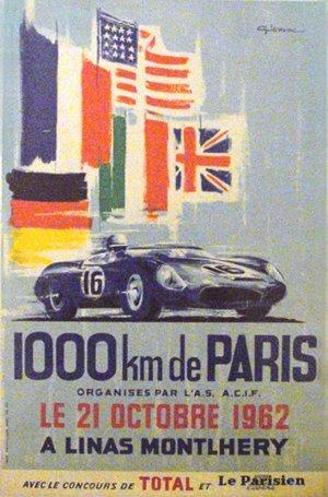 127: 1000 KM de Paris A Linas Montlhery Ferrari  Poster