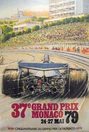 134: Monaco Formula One Grand Prix 1979 Race Poster