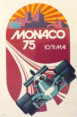 135: Monaco Formula One Grand Prix  1975  Poster