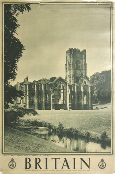 189: Britian-Fountains Abbey near Harrogate, Yorkshire