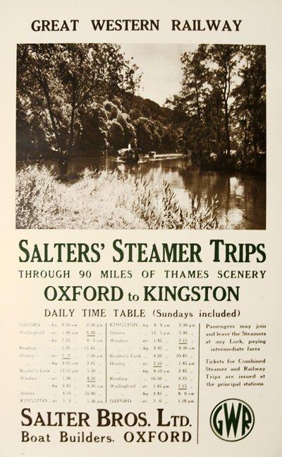 192: Salters Steamer, Oxford , GWR Great Western Rail