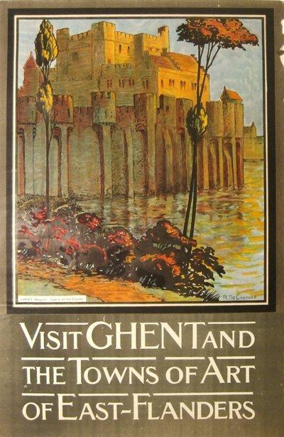 204: Ghent, Art of East-Flanders, Belgium, Poster