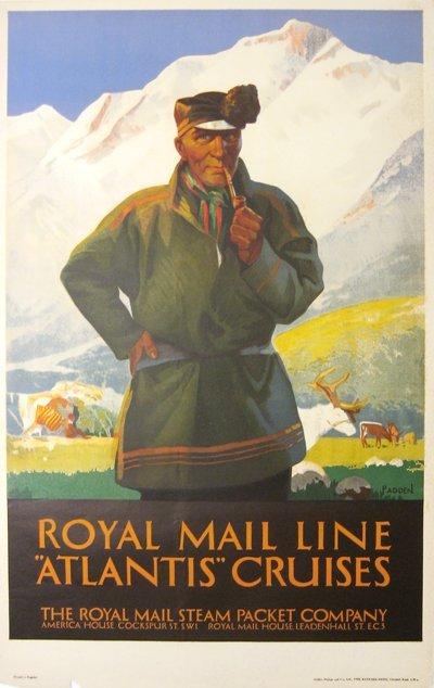 209: Royal Mail Line, Atlantis Cruises Poster